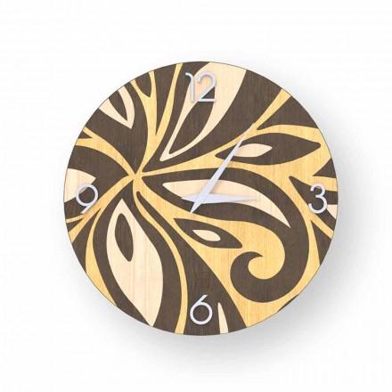 Orologio da parete design moderno in legno Zane, made Italy