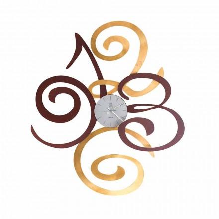 Orologio da Parete di Design in Ferro Colorato Made in Italy – Fiordaliso