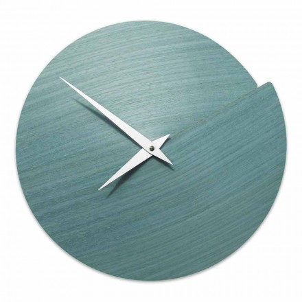 Orologio da Parete di Design Moderno in Legno Naturale Made in Italy – Cratere