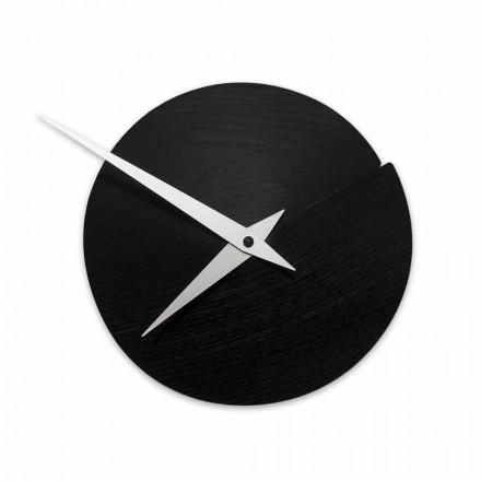 Orologio da Parete Rotondo Diametro 19,5 cm in Legno Made in Italy – Cratere