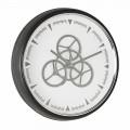 Orologio da Parete Diametro 50 cm in Acciaio e Vetro Homemotion - Severio