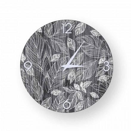 Orologio da parete in legno dal design moderno  Veroli, made in Italy