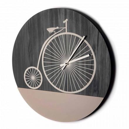 Orologio da Parete di Design in Legno Tondo in 2 Finiture, Made in Italy - Byko