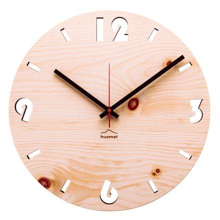 Orologio da parete in legno di cirmolo realizzato in Italia Andrea