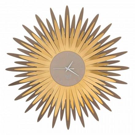 Orologio da Parete Moderno a Forma di Raggiera in Ferro Made in Italy - Fuoco