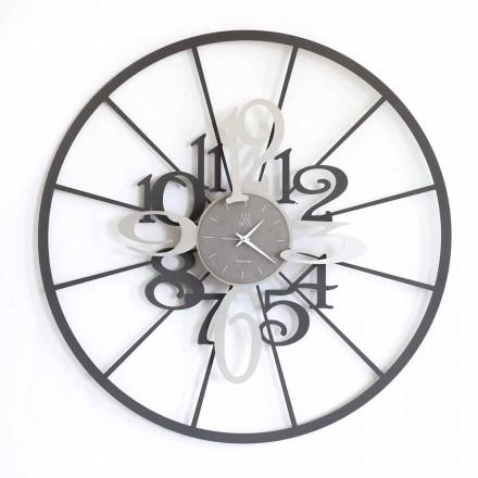 Orologio da Parete Moderno Circolare in Ferro Bicolore Made in Italy – Calipso