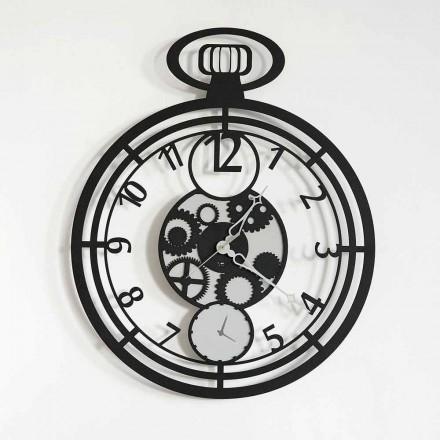Orologio da Parete Moderno Circolare in Ferro Colorato Made in Italy – Ciliegino