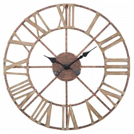 Orologio da Parete Moderno Diametro 71,5 cm in Ferro e MDF - Carcans