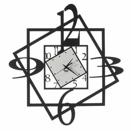 Orologio da Parete Moderno in Ferro Design Geometrico Made in Italy - Procida