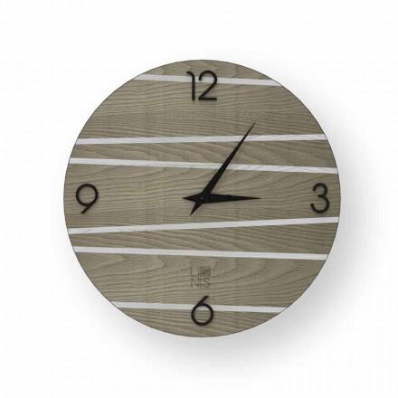 Orologio da parete moderno in legno  Marzio, made in Italy