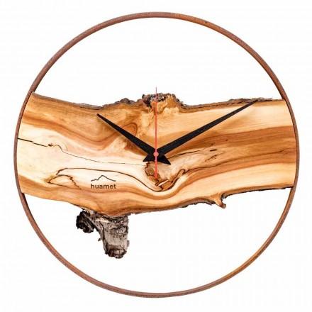 Orologio da Parete Rotondo in Legno Massello di Melo Made in Italy – Sirmione