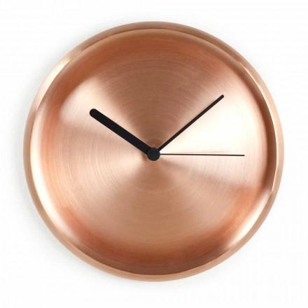 Orologio da Parete Rotondo in Rame Lucidato di Design Made in Italy - Ogio