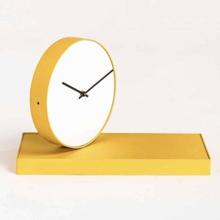 Orologio da Tavolo Girevole con Specchio in Acciaio Made in Italy - Benemerito