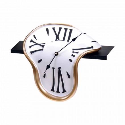 Orologio da Tavolo in Resina Decorata a Mano Made in Italy - Corin