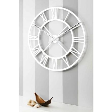 Orologio Grande da Parete Shabby Chic in Legno di Design Vintage - Arrigo