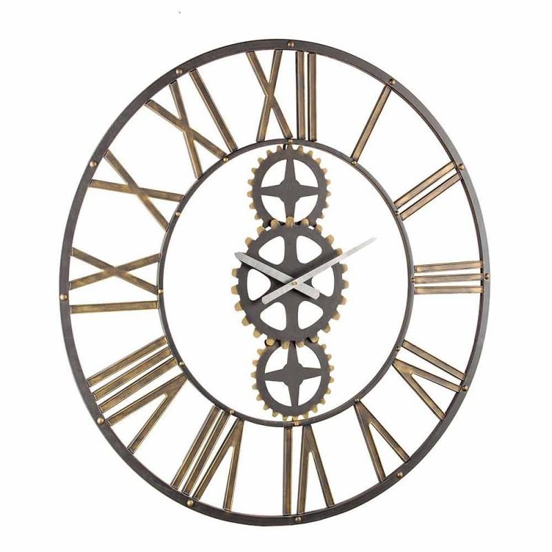 Orologio Grande Stile Vintage da Parete in Acciaio Homemotion - Maggio