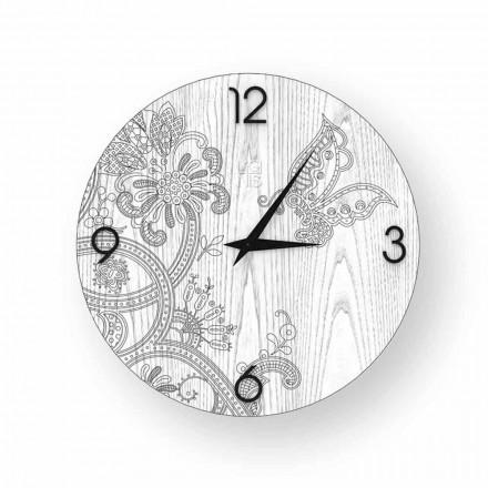 Orologio da parete in legno  Ton, design moderno, made in Italy