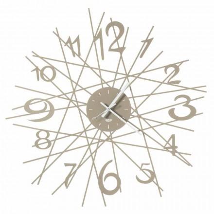Orologio Rotondo da Parete di Design in Ferro Made in Italy - Kombo