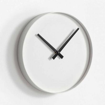 Orologio Rotondo da Parete di Design in Metallo Verniciato Opaco - Orogio