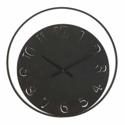 Orologio Rotondo da Parete Diametro 60 cm Moderno in Ferro - Beatrix
