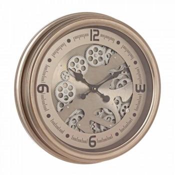 Orologio Rotondo da Parete in Acciaio e Mdf Design Classico Homemotion - Arazzo