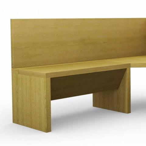 Tavolo Con Panca Angolare Moderno.Panca Angolare In Legno Di Rovere Con Contenitore Design Moderno Cassy