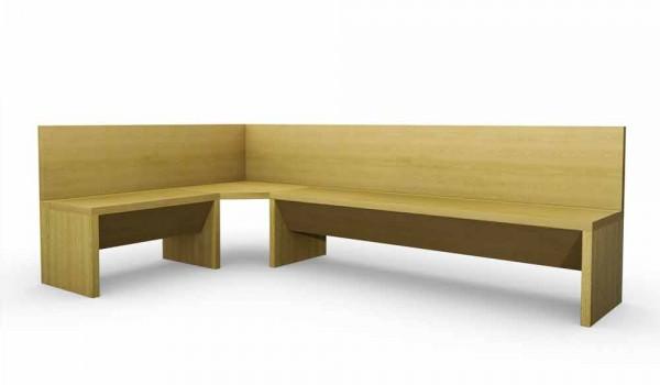 Panca Contenitore Bagno : Panca angolare in legno di rovere con contenitore design moderno cassy