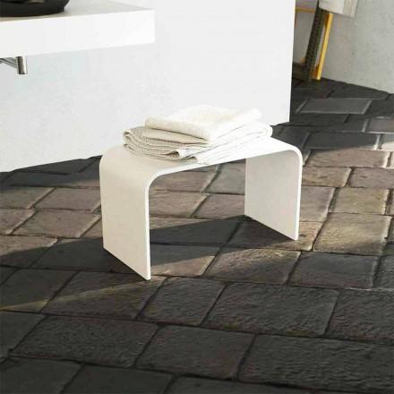 Panca da bagno lunga di design moderno prodotta in Italia Recanati