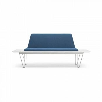 Panca Imbottita e Rivestita Base Acciaio e Mdf Design Moderno Minimale - Gardena