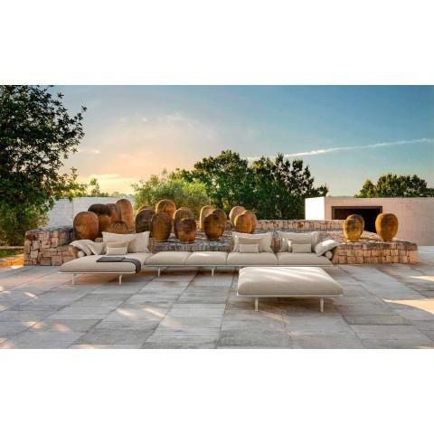 Panchina da Giardino Moderna in Alluminio e Tessuto – Cruise Alu by Talenti