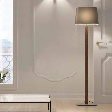 Piantana Design Moderno in Metallo con Paralume in Tessuto Made in Italy - Jump