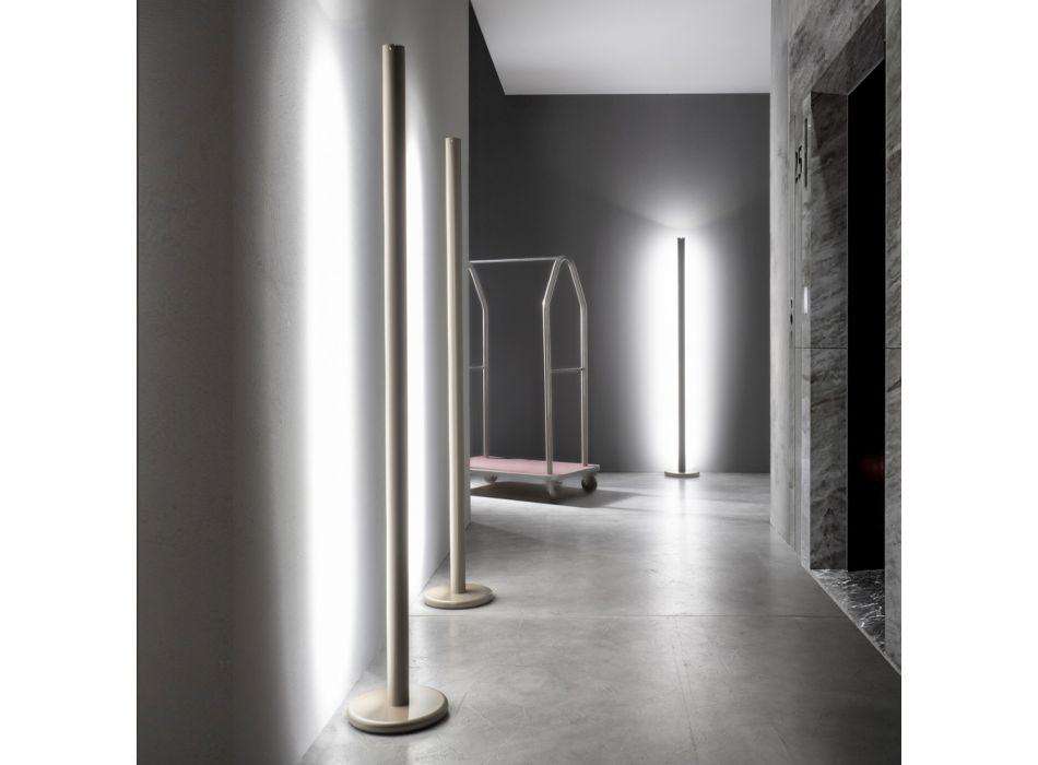 Piantana Moderna in Metallo con Doppia Illuminazione Made in Italy - Roman