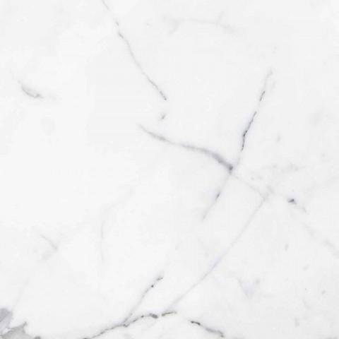 Piatti da Portata in Marmo di Carrara e Bardiglio Made in Italy, 2 Pezzi - Pea