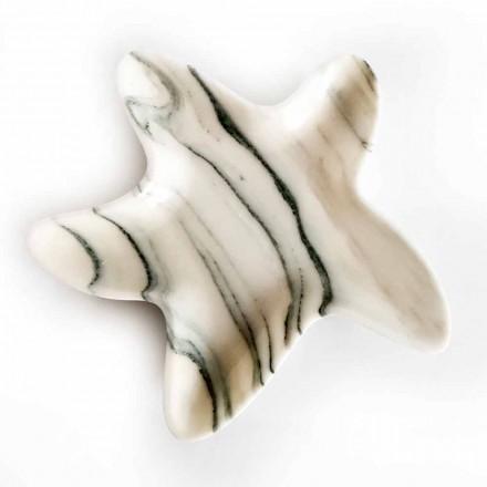Piattino Moderno in Marmo a Forma di Stella Marina Made in Italy - Ticcio