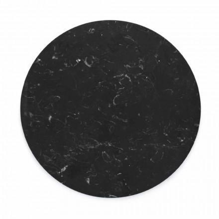 Piatto da Formaggi Rotondo in Marmo Bianco o Nero Made in Italy - Kirby