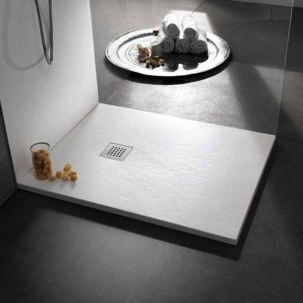 Piatto Doccia di Design Moderno in Resina Effetto Pietra 100x70 - Domio
