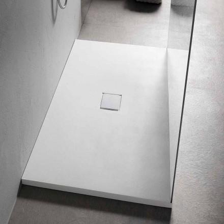 Piatto Doccia Rettangolare 160x70 cm in Resina Bianca Design Moderno - Estimo