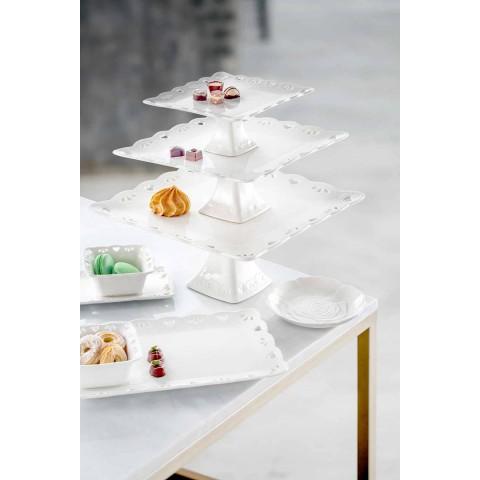 Piatto per Bomboniera Decorato a Mano Elegante in Porcellana 12 pezzi - Rafiki