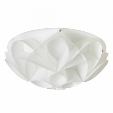 Plafoniera 2 luci color bianco perla design moderno,diam.43cm,Lena