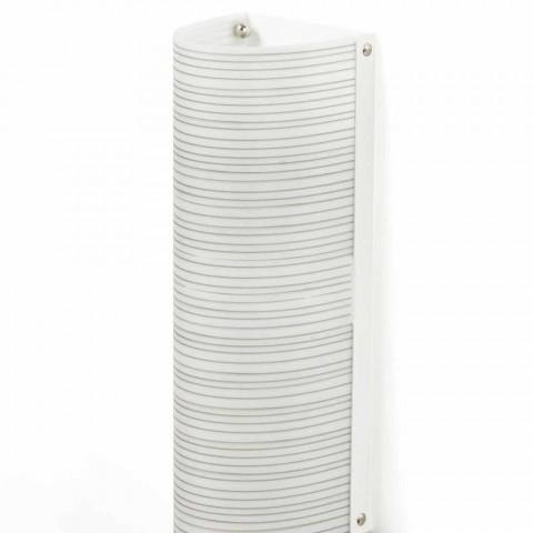 Plafoniera 2 luci con decoro fili design moderno,L.18xP.16cm, Debby