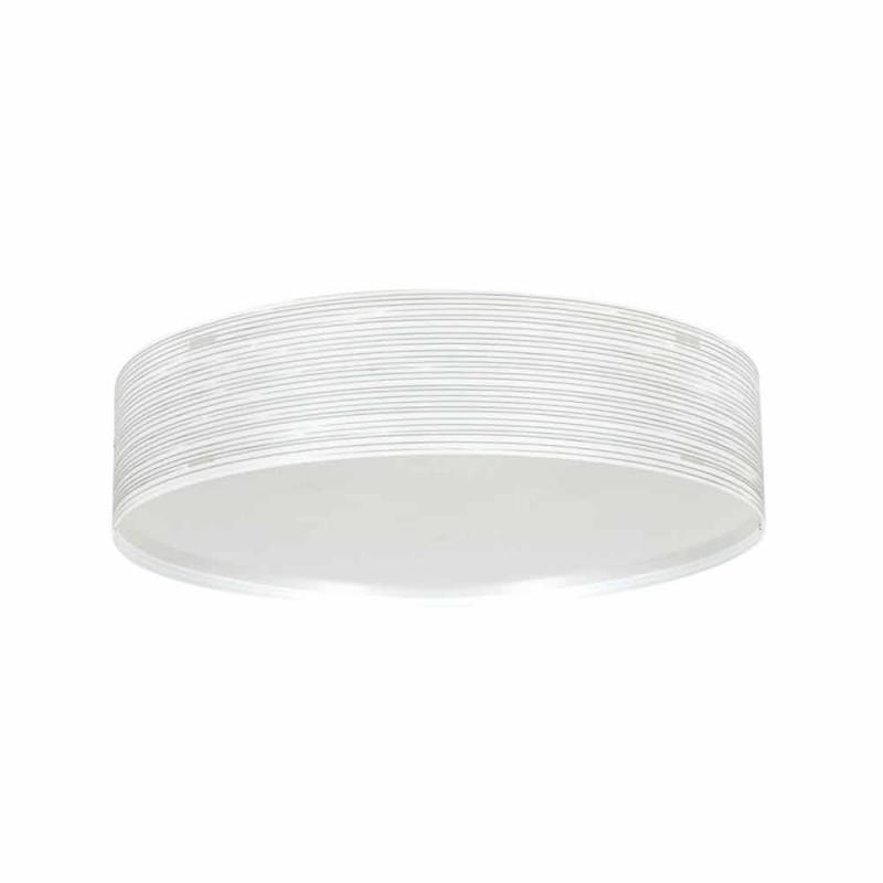 Plafoniera 2 luci in polipropilene design moderno Debby, diametro 45cm