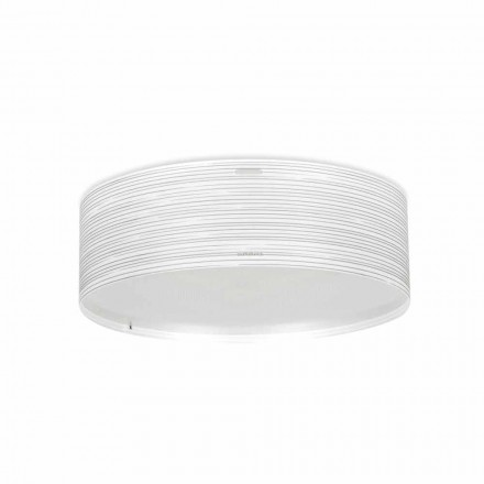 Plafoniera 3 luci design moderno in polipropilene Debby,diametro 60 cm