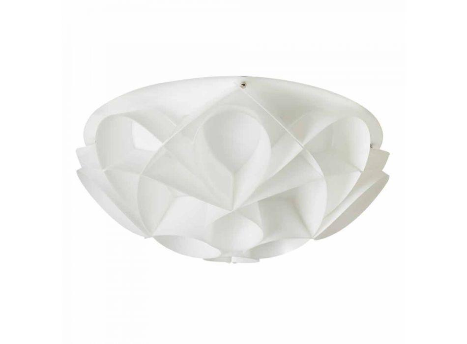 Plafoniera 3 lucimade in Italybianco perla,diametro 51 cm,Lena