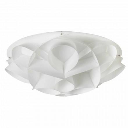 Plafoniera 4 luci bianco perla di design moderno,diam. 70 cm,Lena