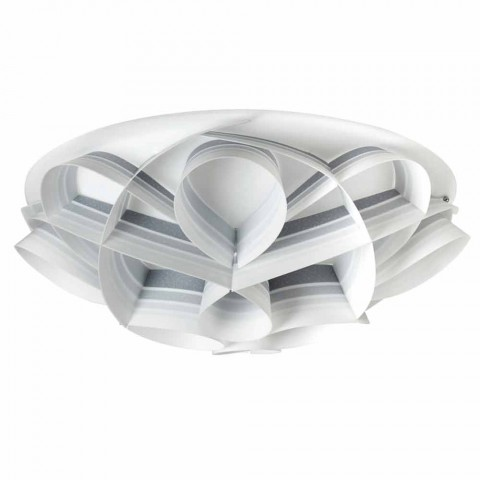 Plafoniera 4 luci di design moderno made in Italy,diam. 70 cm,Lena
