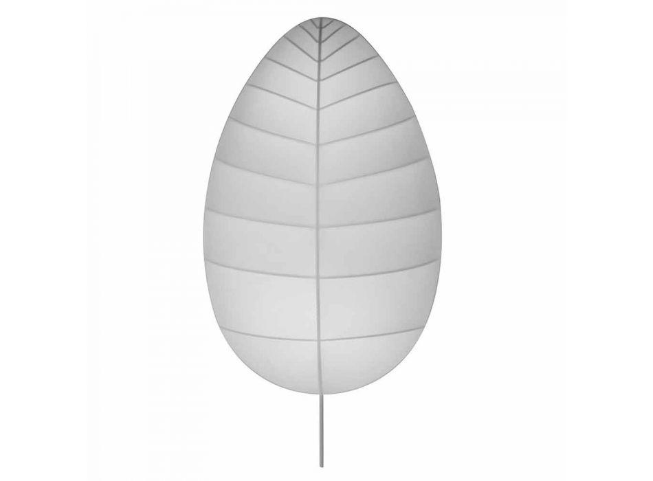 Plafoniera Applique in Metallo e Lycra Bianco Design in 3 Dimensioni - Fogliame