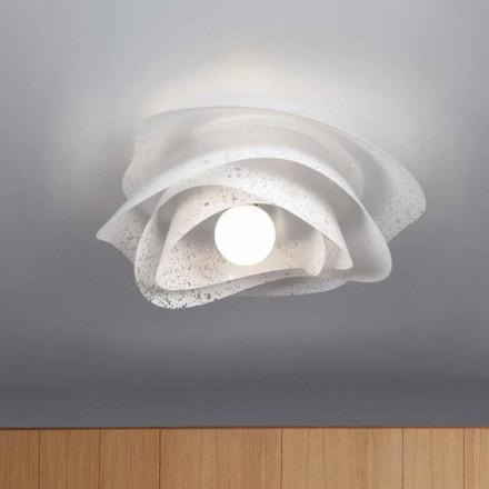 Plafoniera bianca design moderno diametro 55 cm Adalia, made in Italy