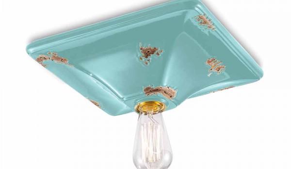 Plafoniere Da Soffitto Vintage : Plafoniera da soffitto dallo stile retrò in ceramica karen ferroluce