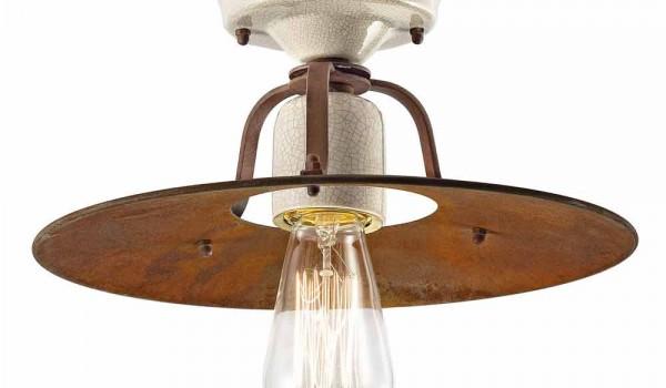 Plafoniera da soffitto vintage in ceramica e metallo elaine ferroluce
