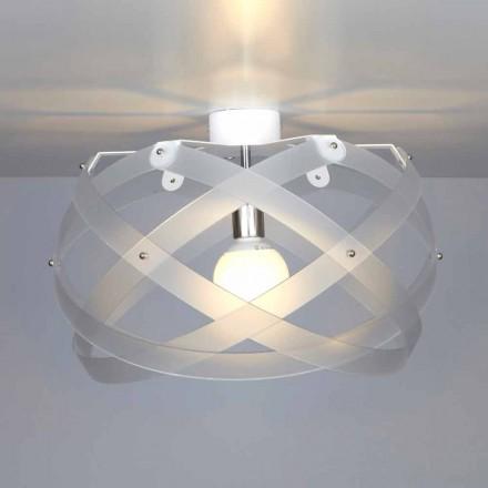 Plafoniera in metacrilato design moderno Vanna, diametro 40 cm
